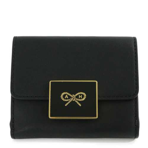 Enamel Lock Mini Trifold Wallet・SS19 CIRCUS LEATHER IN BLACK・3つ折りコンパクト財布/5050925125680