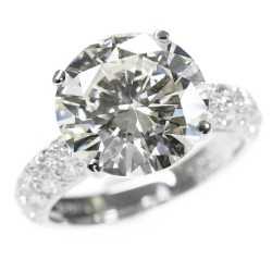 ダイヤモンドリング Pt950 5.0ct