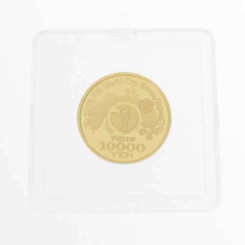 日本 2002 FIFAワールドカップ記念1万円金貨幣・貨幣・メダル記念メダル/K24/999-15.6g