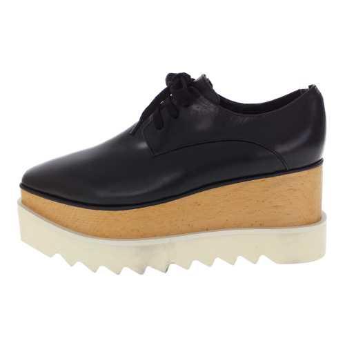 ブリットブラック・スクエアトゥ プラットフォーム靴/363998